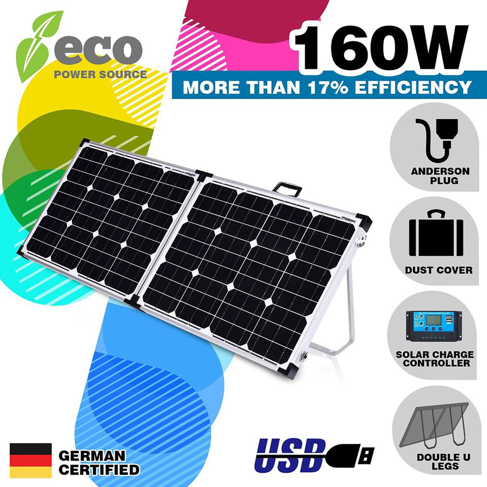 Able 200w Etfe Solar Panel Kits For Caravan Rv Boat 12v Battery Charge+1000w Inverter Alternative & Solar Energy Home, Furniture & Diy