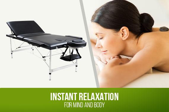 Outbaxcamping 5th Scenario Relaxpro Portable Aluminium Massage