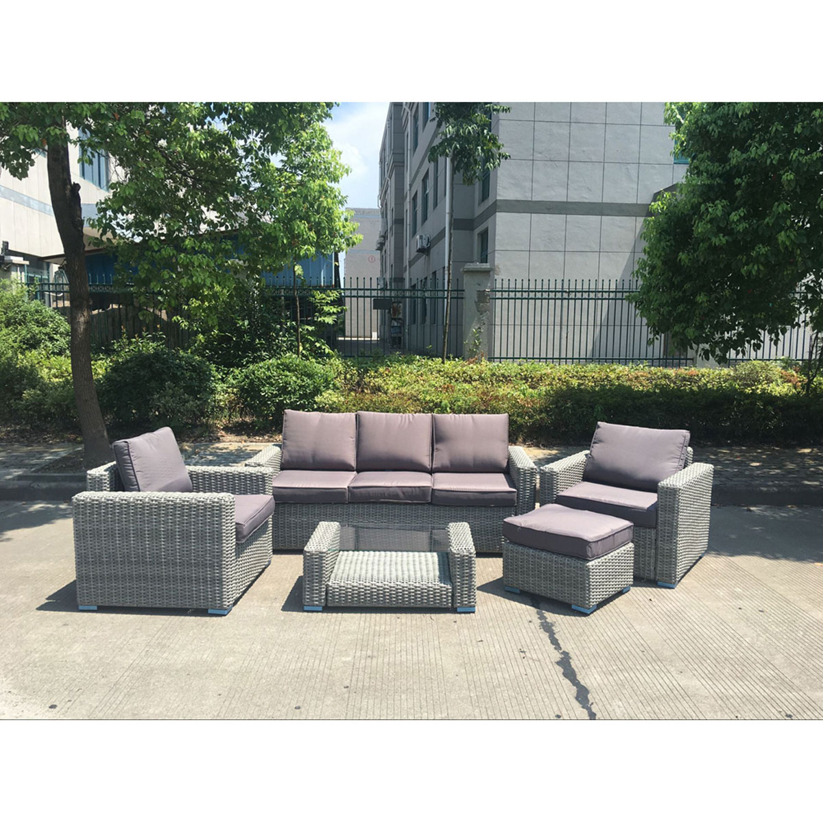 Image Is Loading 5pc Amalfi Wicker Rattan Outdoor Furniture Garden Lounge