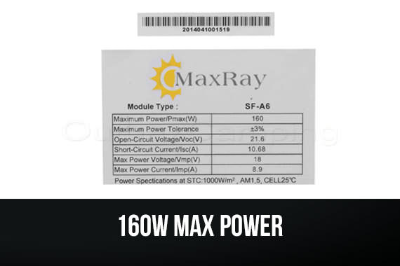 Outbaxcamping 9th Scenario Maxray 160 Watts Monocrystalline