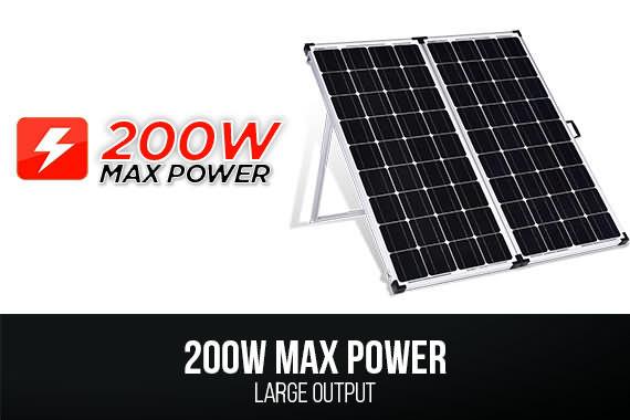 Outbaxcamping 1st Scenario MaxRay 200 Watts Monocrystalline