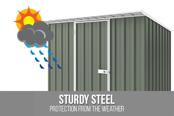 Outbaxcamping 1st Scenario NEW Shed Skillion ROOF