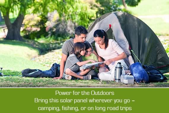 Outbaxcamping 6th Scenario 10w Monocrystalline Rooftop Solar