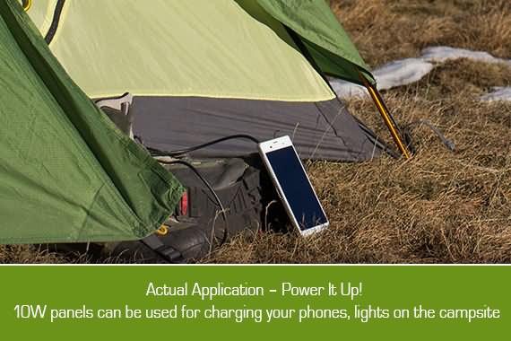 Outbaxcamping 9th Scenario 10w Monocrystalline Rooftop Solar