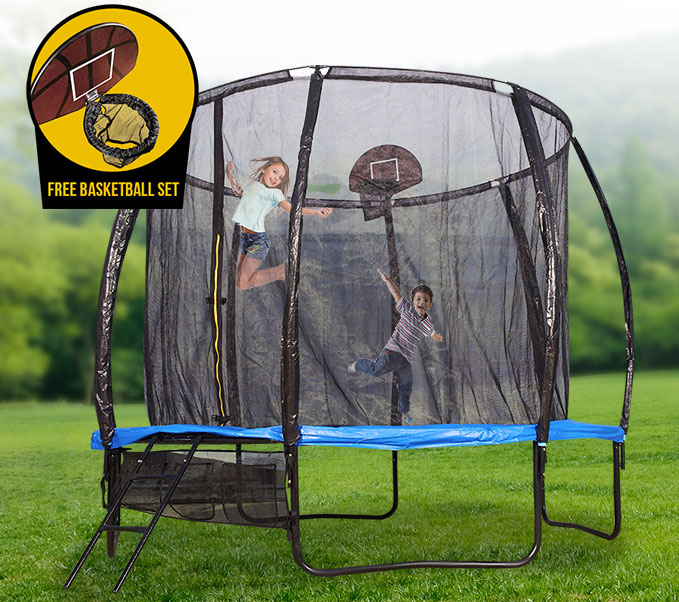 New 10ft Trampoline Round With Spring Mat Safet