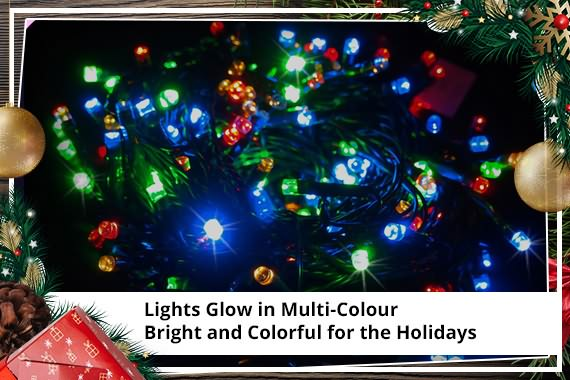 led outdoor christmas lights multi coloured solar xmas light display