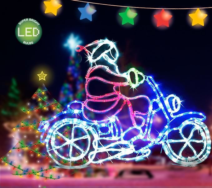 Outdoor led motorbike santa rope light xmas dis outbaxcamping outdoor led motorbike santa rope light xmas display aloadofball Gallery