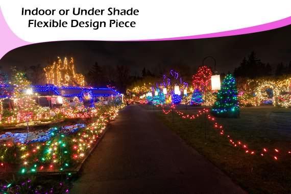 128 led solar christmas lights 50cm spiral 1m pole stake xmas light