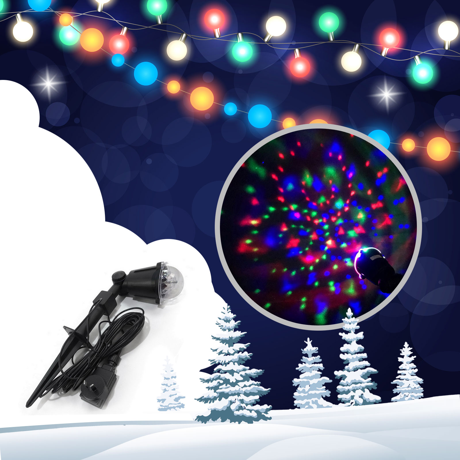 Christmas Lights Outdoor.Christmas Lights Outdoor Led Controllable Flashing Rope 4 In 1 Star Multi Colour