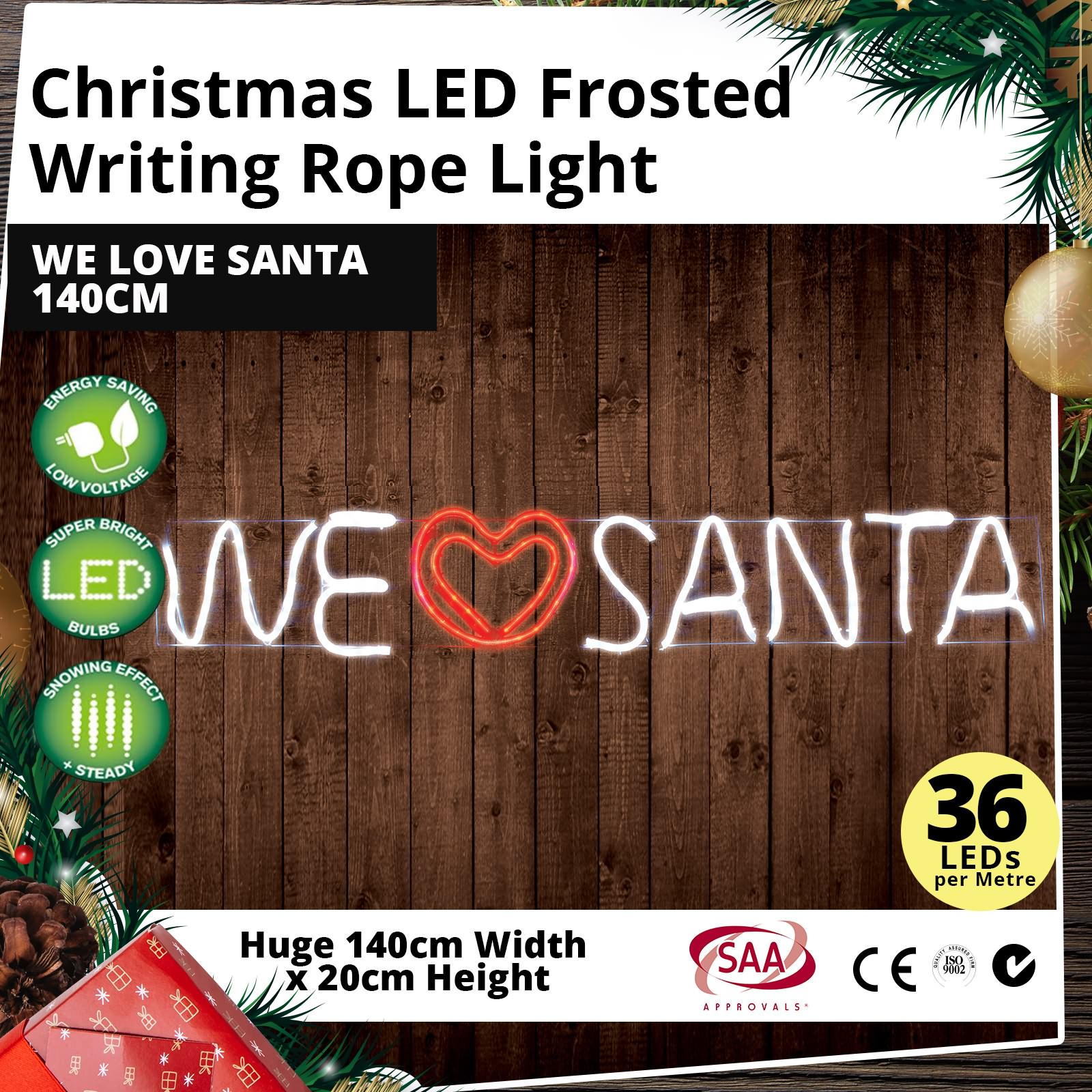Christmas-LED-Rope-Lights-Motif-Sign-Xmas-Party-Decoration-We-Love-Santa-140cm