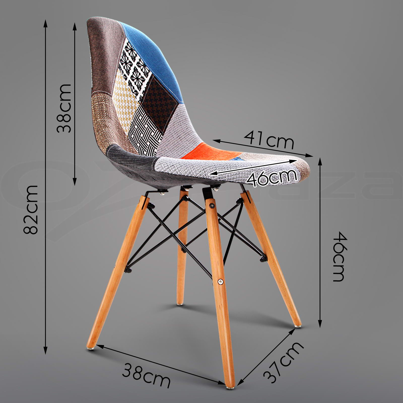 Retro Chairs Armchair Eames Eiffel Beech Dining Replica 8x Dsw Wood Pnw0O8k