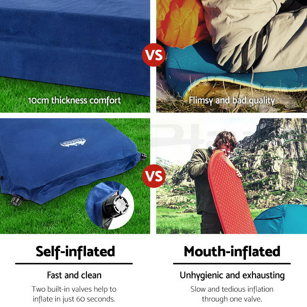 WEISSHORN-4-12-Person-Camping-Tent-Swag-Self-Inflating-Mat-Family-Hiking-Beach thumbnail 30