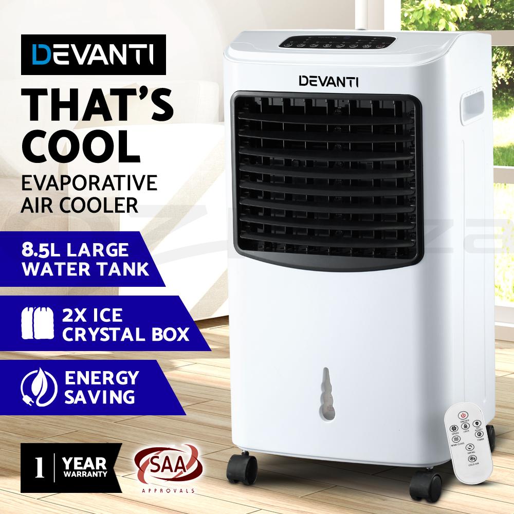 Devanti-8-5L-Evaporative-Air-Cooler-Portable-Fan-Conditioner-Cool-Mist-w-Remote