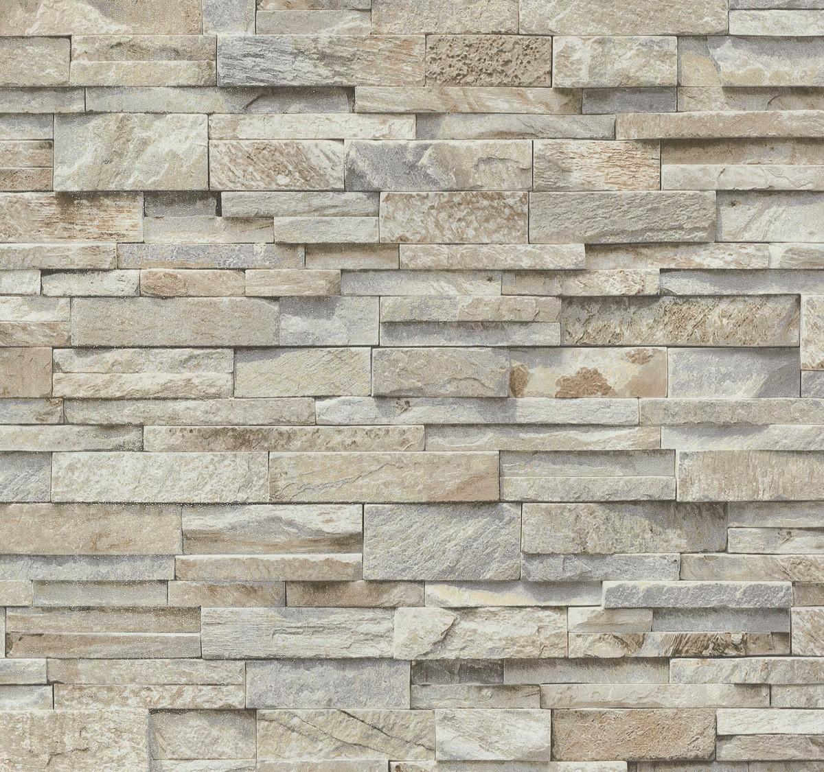 Brick Effect Wallpaper Vinyle 3d Slate Stone Split Face