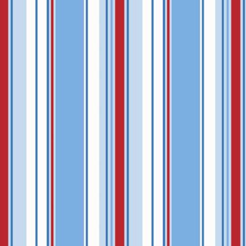 Poppins Stripe Wallpaper Striped Stripey Kids Bedroom Blue White