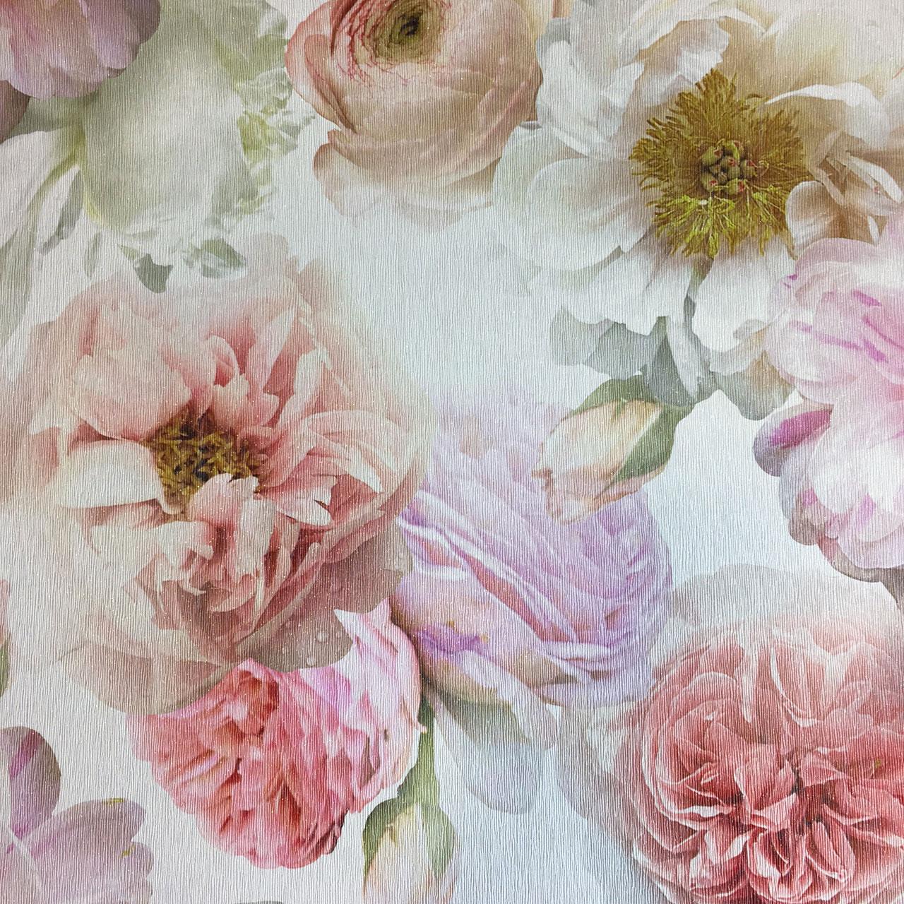 Floral Wallpaper Flowers Glitter Luxury Textured Vinyl Diamond