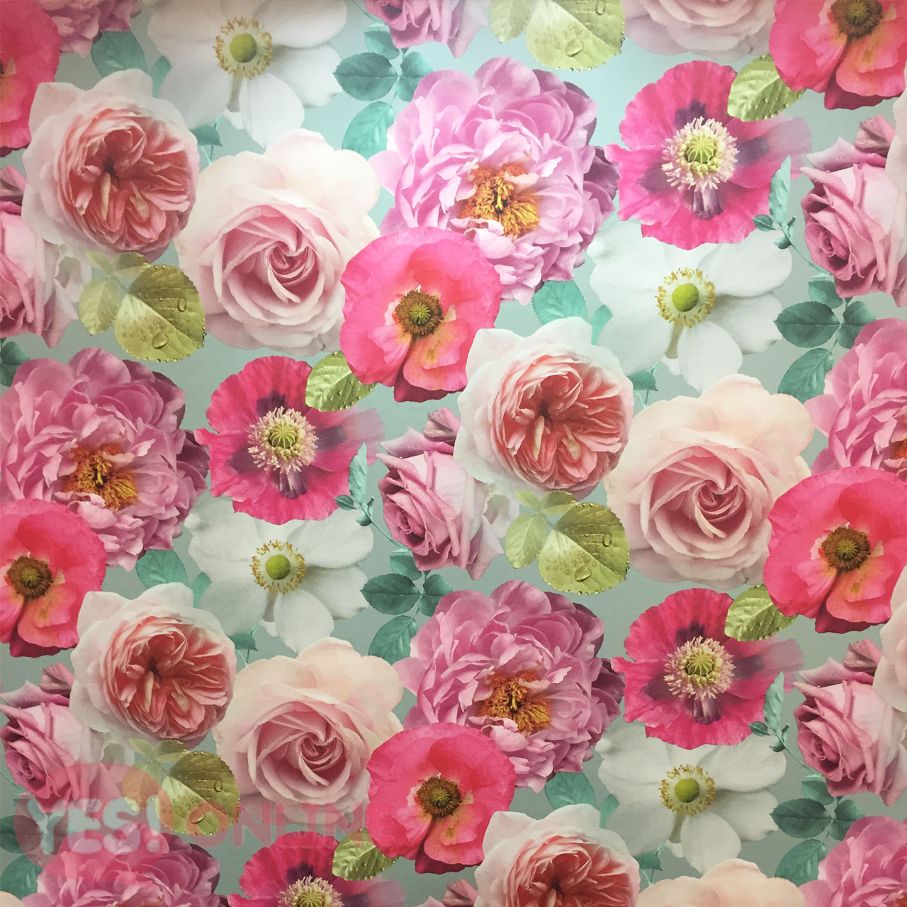 Flower Floral Country Garden Wallpaper Heavyweight Roses