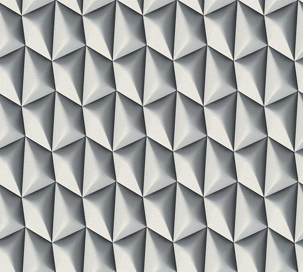 3D Wallpaper Geometric Retro Textured Vinyl Paste The