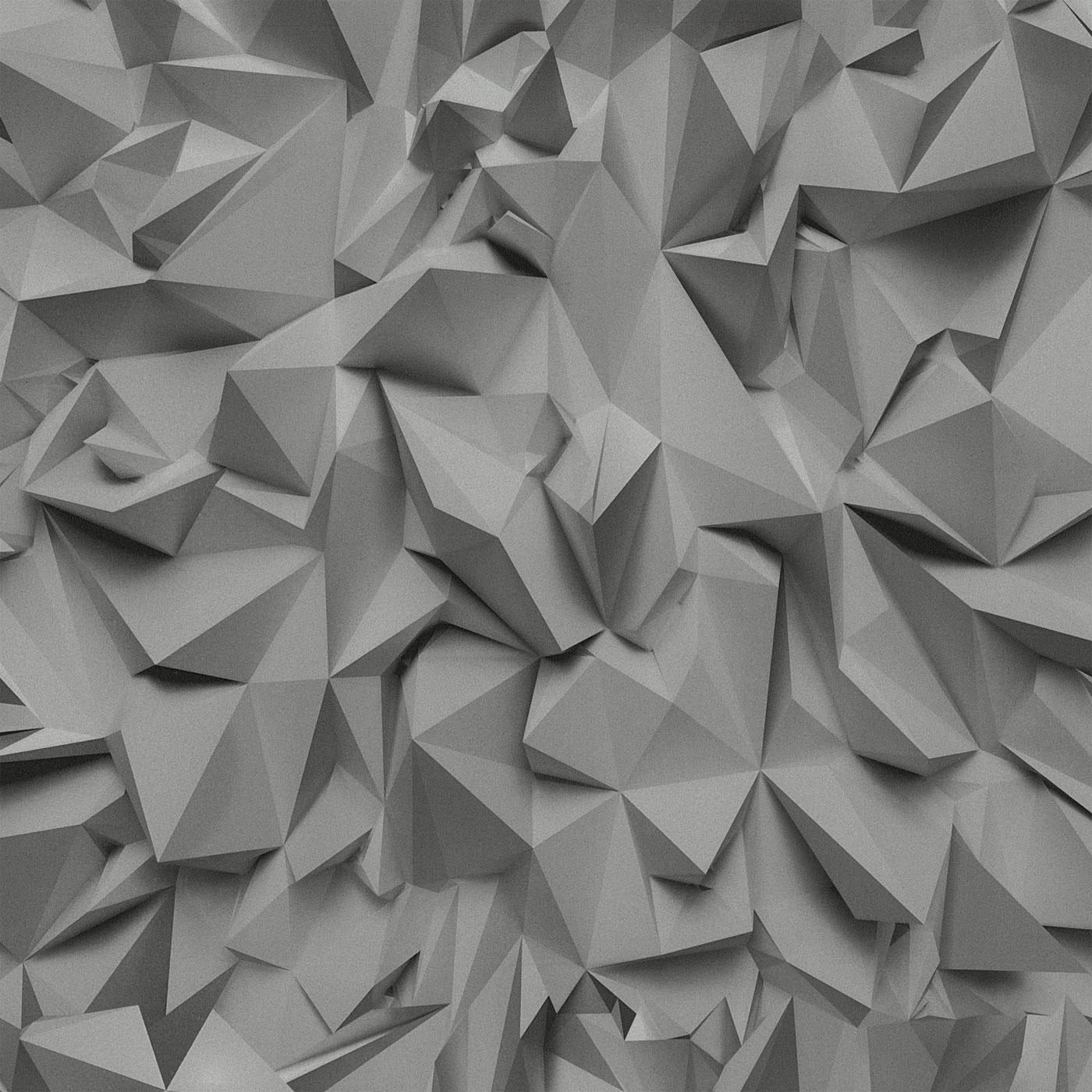 3D Effect Grey Silver Futuristic Metallic Vinyl Wallpaper EBay