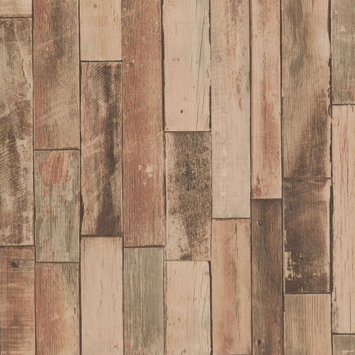 Details About Wooden Effect Vinyl Wallpaper Real Life Look Wood Panels Boards Brown Paste Wall