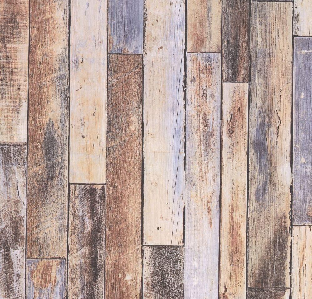 Wooden Look Wallpaper Wood Style Effect Panel Board Rustic ...