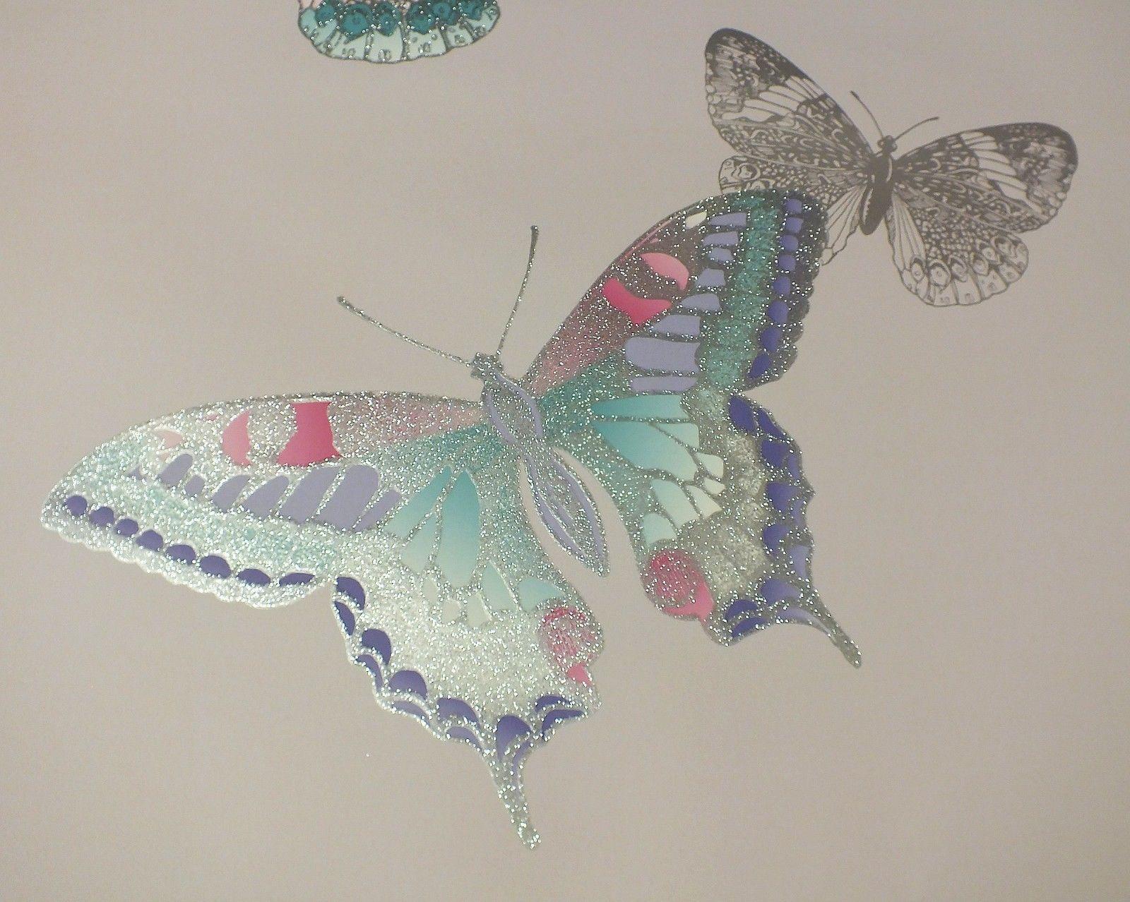 Butterfly Wallpaper Butterflies Luxury Weight Glitter ...