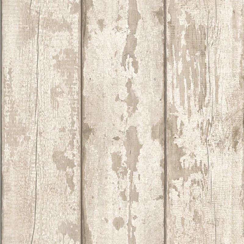 Washed Wood Effect Wallpaper Wooden Boards Planks Faux