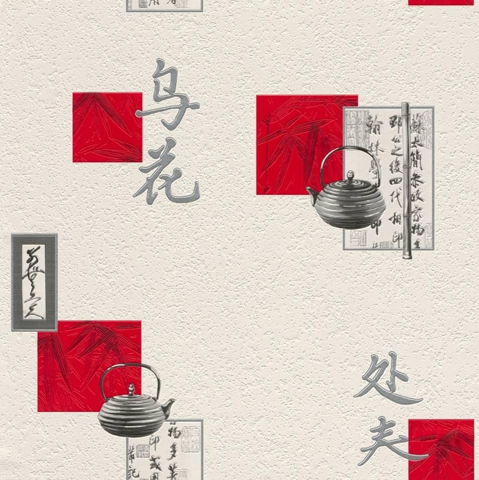 Kitchen Wallpaper Ebay Uk: Oriental Chinese Vinyl Wallpaper Kitchen Textured Washable