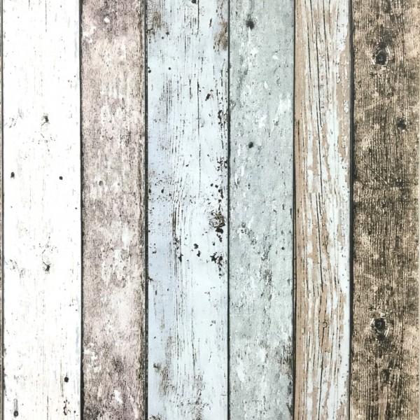 Wood Effect Wallpaper Distressed Wooden Grain Surf Beach