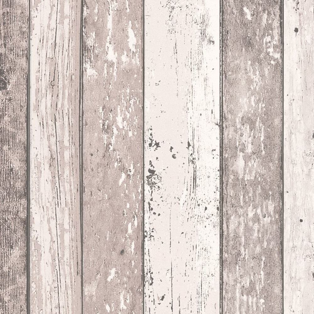 Wood Effect Wallpaper Distressed Wooden Grain Surf Beach
