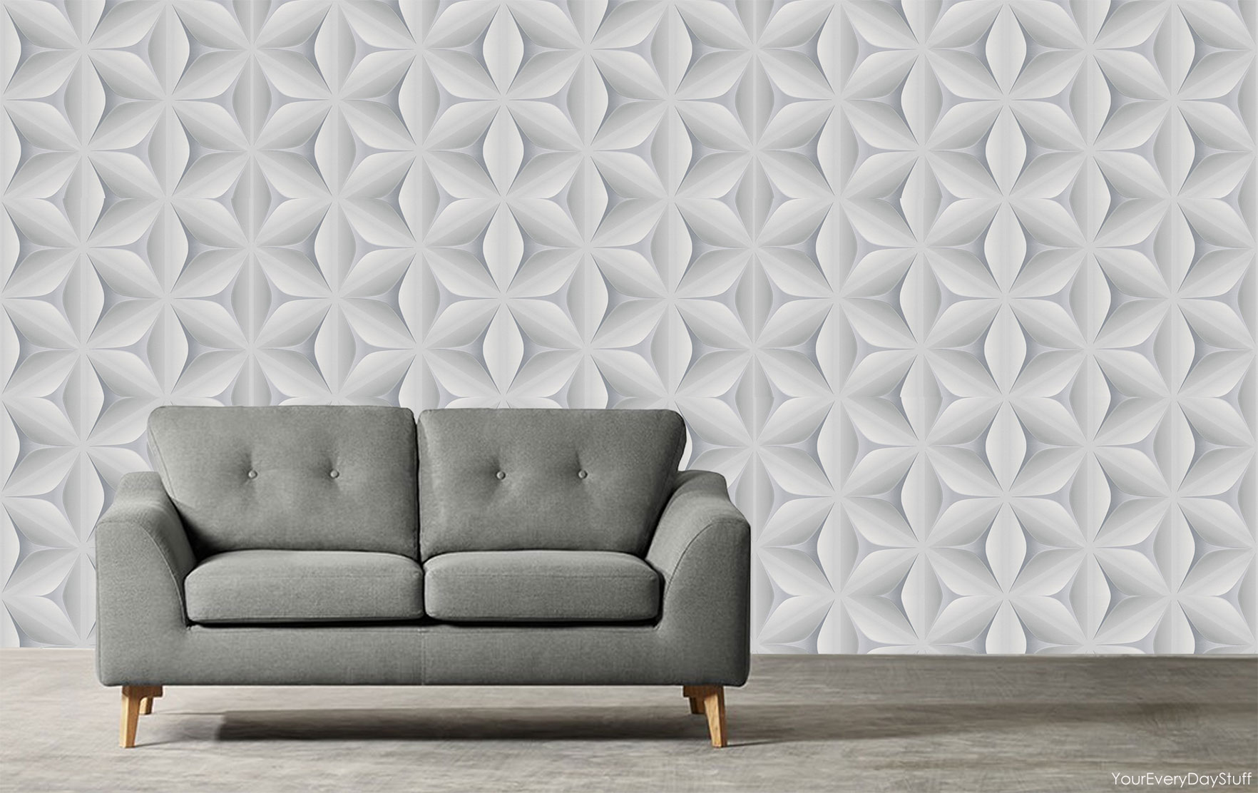 Retro Wallpaper Vintage Star Leaf 3d Abstract Geometric