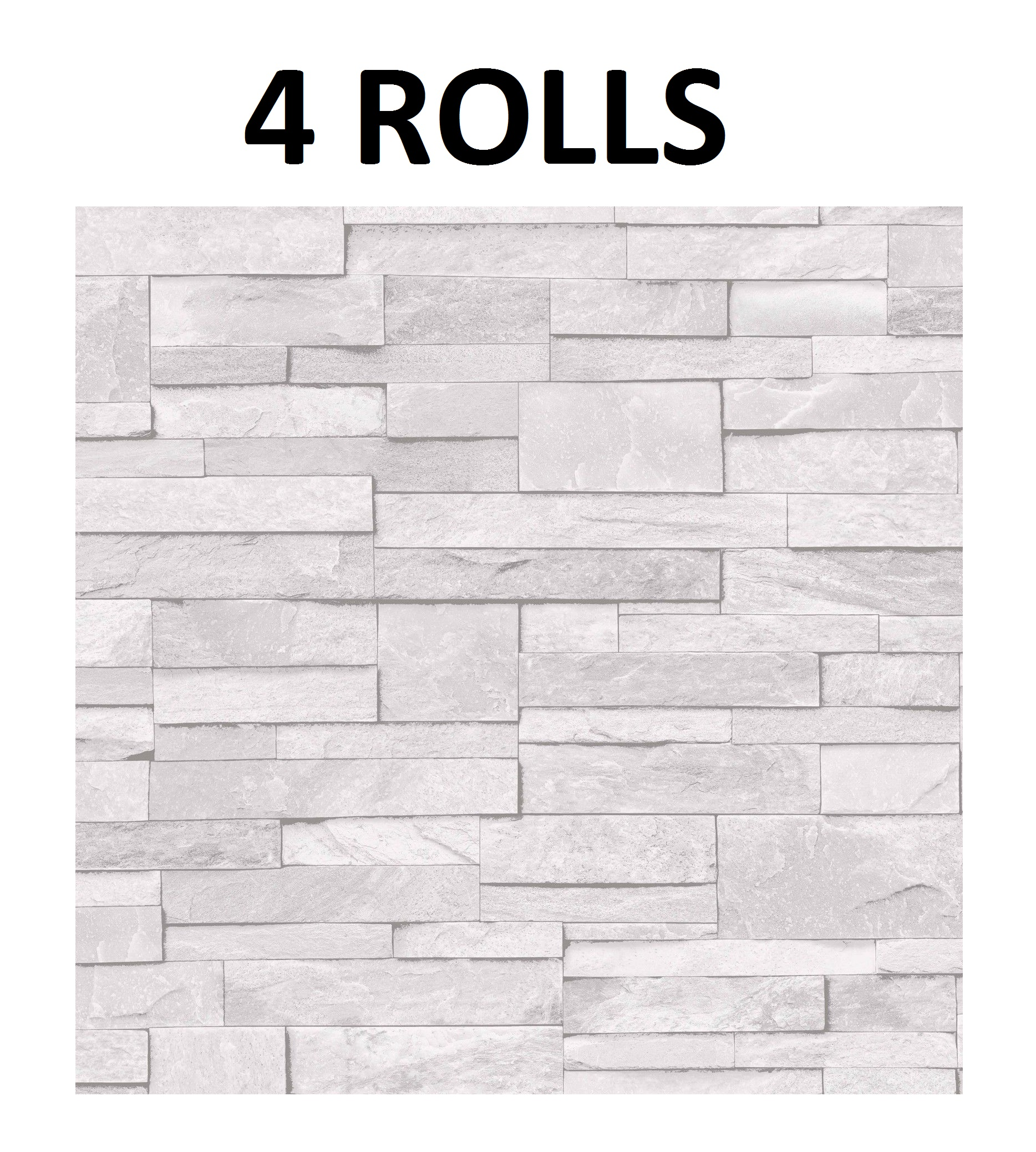 Details About Light Grey White Brick Wall Wallpaper Stone Brick Effect Washable Vinyl X 4