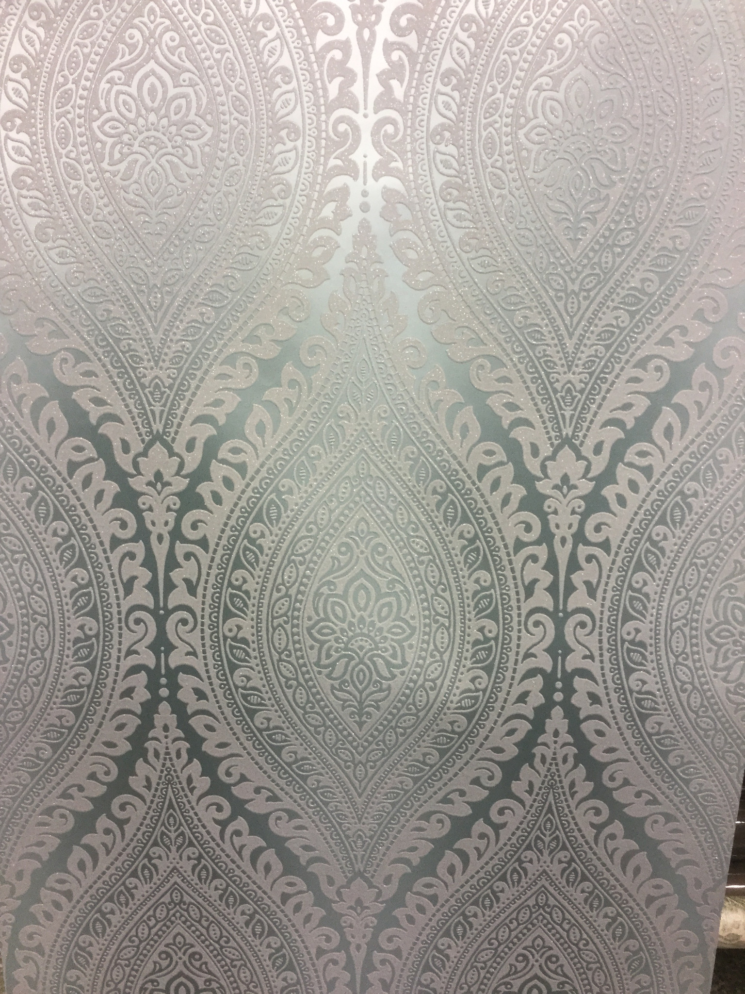 Damask Wallpaper Metallic Glitter Sparkle Textured Embossed Luxury