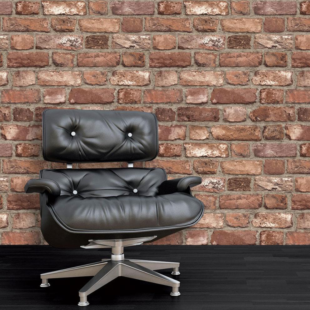 3D Brick Effect Wallpaper Slate Stone Realistic Textured ...