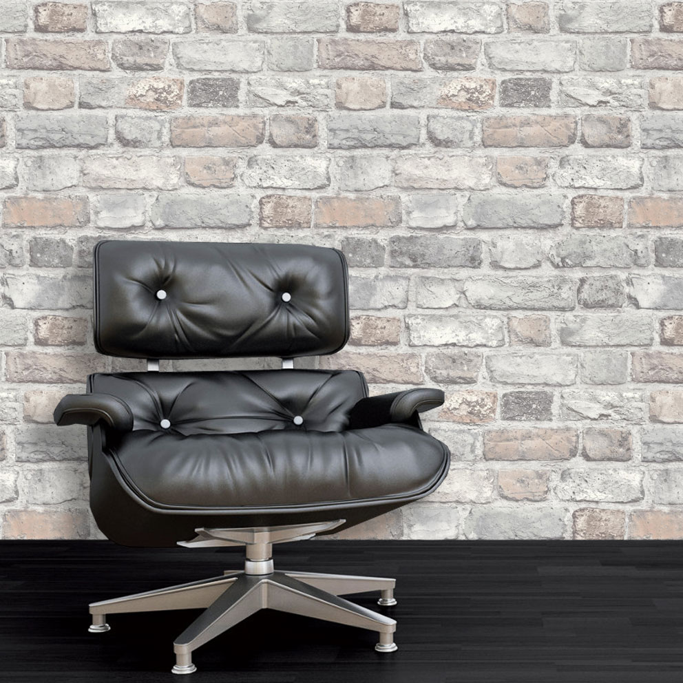 3D-Brick-Effect-Wallpaper-Slate-Stone-Realistic-Textured-Vinyl-Vintage-Grandeco thumbnail 7