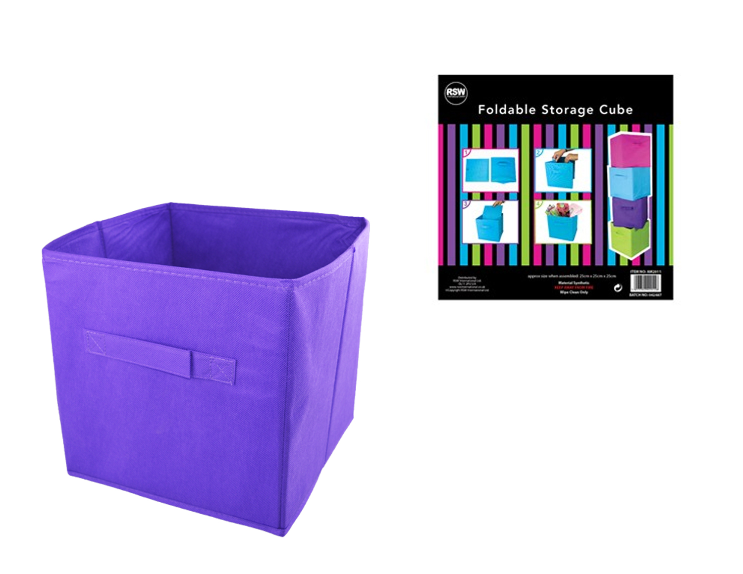 Folding Storage Cube Space Saver Tidy Home Bedroom Playroom