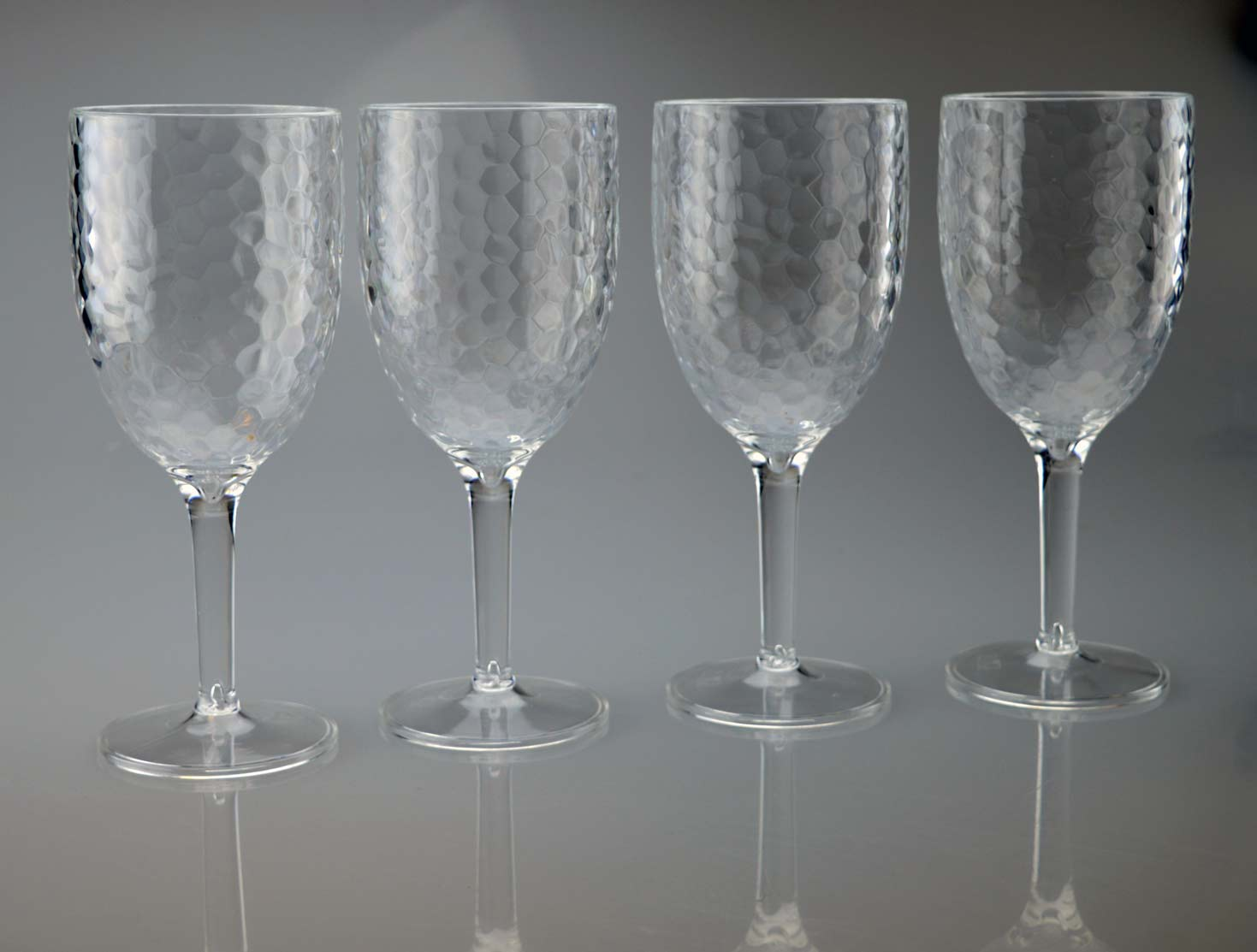 3131f9df557 Details about Clear High Quality Plastic Wine Glasses Goblets Pack of 2 or  4 Outdoor Reusable