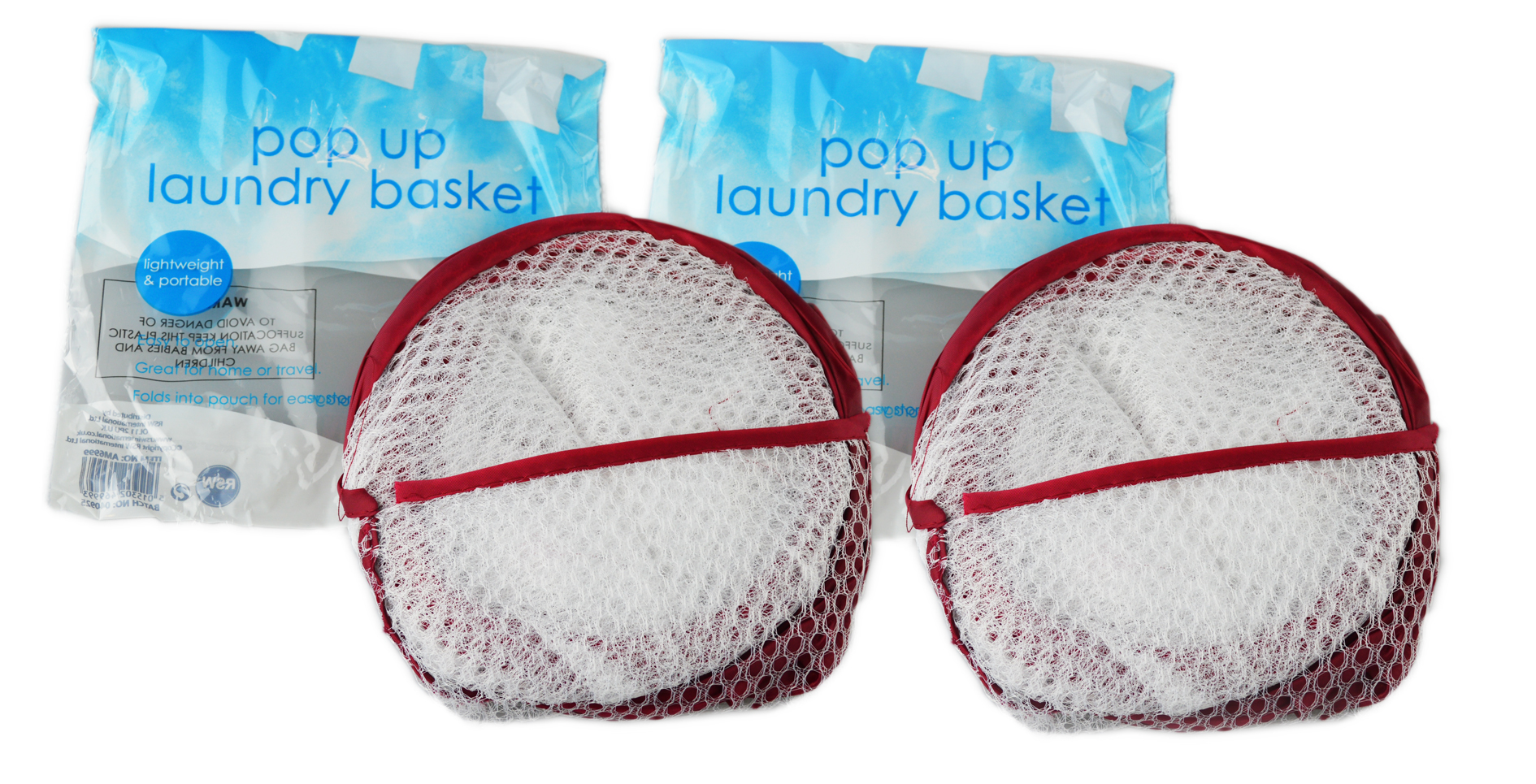 Folding-Mesh-Laundry-Basket-Ideal-for-Home-or-Travel-034-Royle-Home-034 thumbnail 3