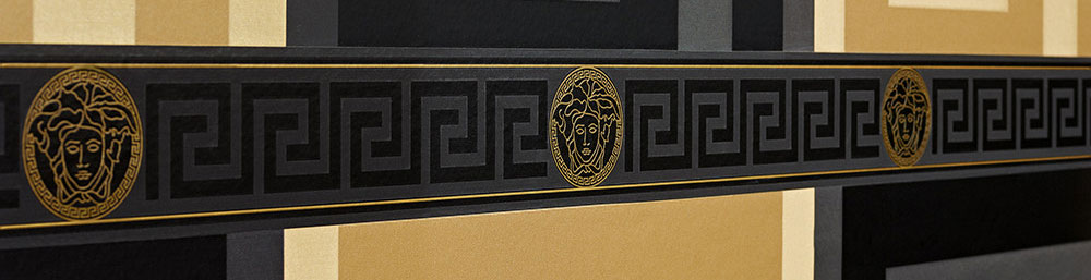 Versace Wallpaper Amp Border Gold Black Luxury Satin