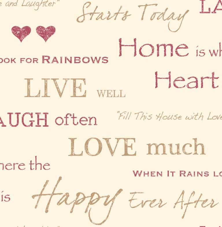 Fine Decor Red Wall Words Quotes Live Love Laugh Design Feature