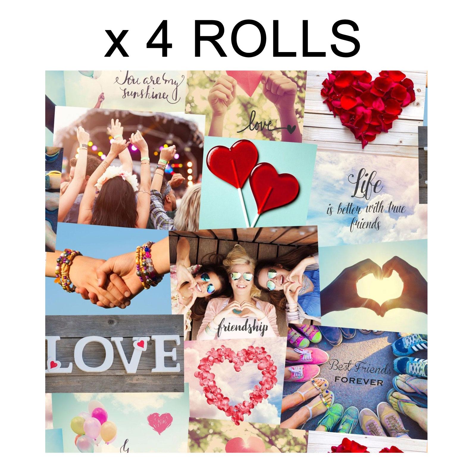 Love Festival Friends Wallpaper Hearts Collage Girls Teenager Luxury Heavyweight