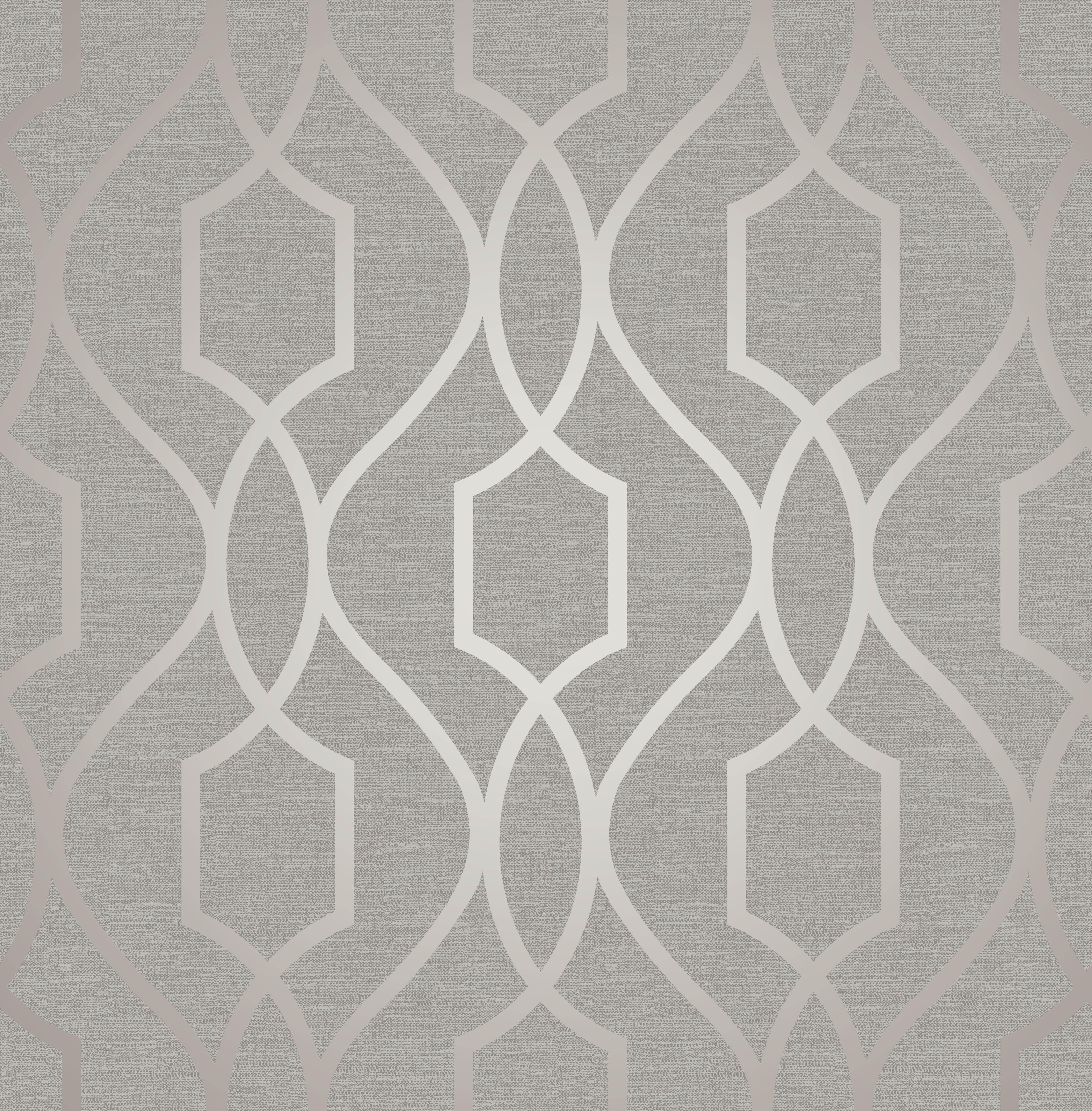 Geometric Wallpaper Metallic Shiny Grey Taupe Apex 3D Modern Fine Decor