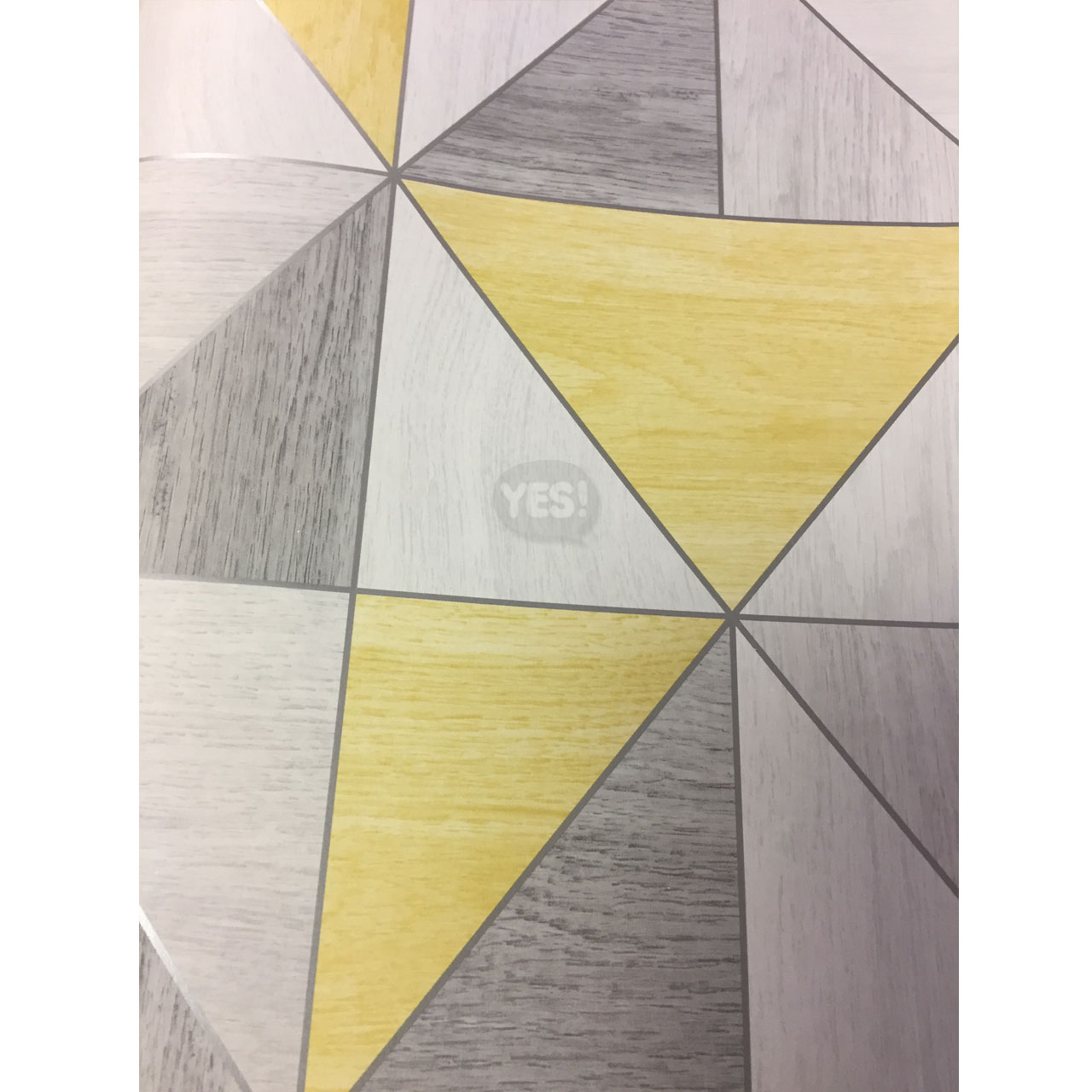 20d37c2fc17 Details about Wood Apex Wallpaper Geometric Luxury Metallic Yellow Grey  Silver Fine Decor