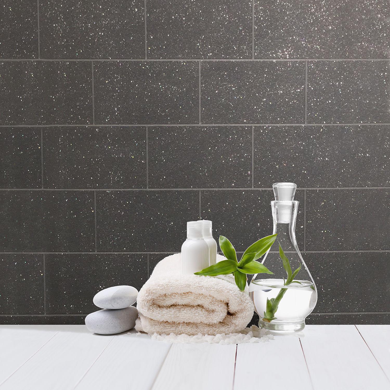 Brilliant Details About Brick Effect Wallpaper Kitchen Bathroom Vinyl Glitter Textured Black Grey Download Free Architecture Designs Ogrambritishbridgeorg