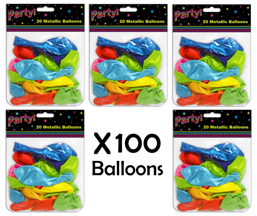 Balloons-Pack-Of-20-40-60-80-100-Decoration-Birthdays-Weddings-Party-Accessoires