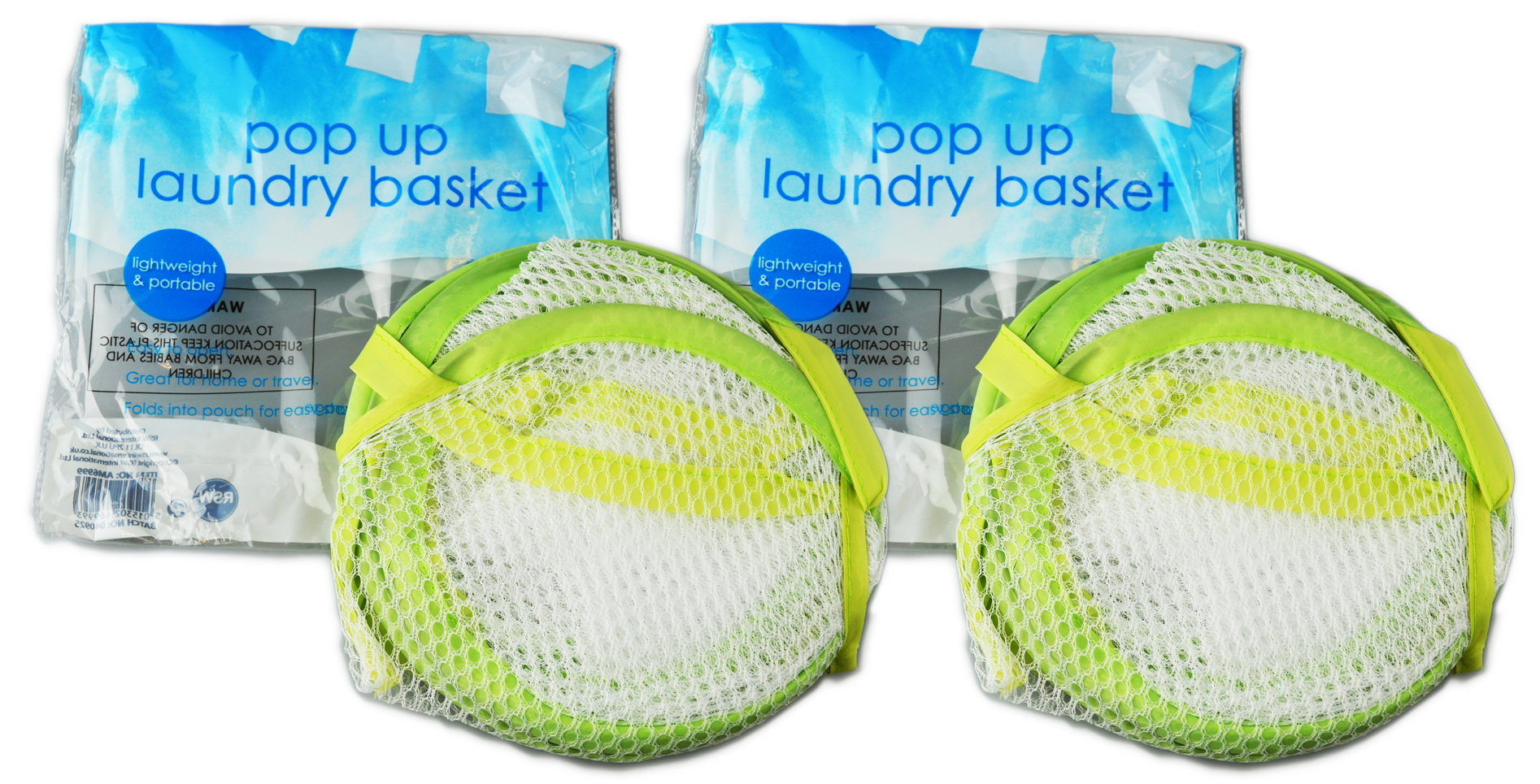 Folding-Mesh-Laundry-Basket-Ideal-for-Home-or-Travel-034-Royle-Home-034 thumbnail 7