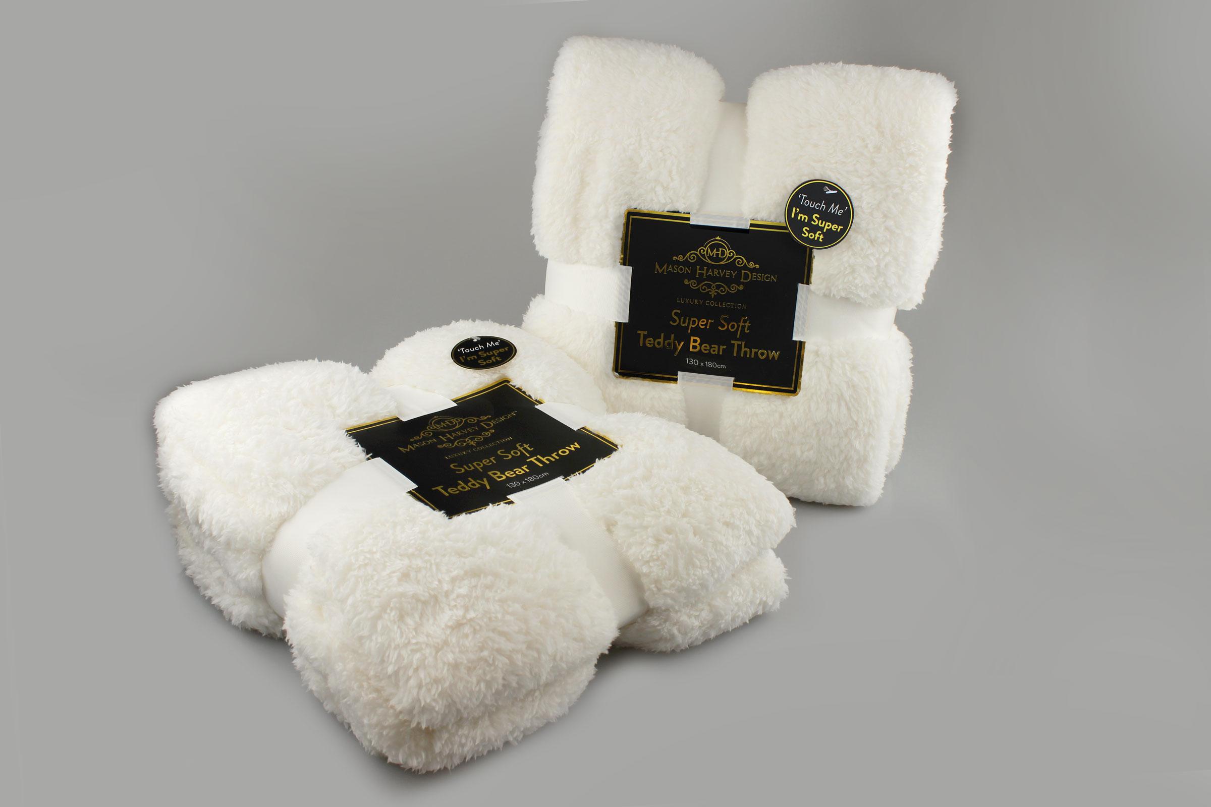 Teddy Bear Throw Sherpa Super Soft Couch Bed Comfy Snug