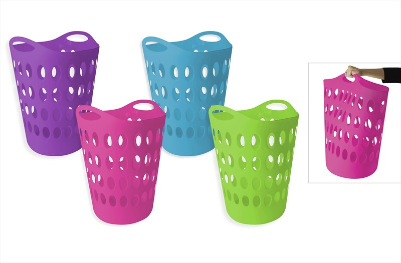 Tall Plastic Laundry Basket Fascinating Laundry Basket Home Clothes Washing Flexi Large Flexible Tall