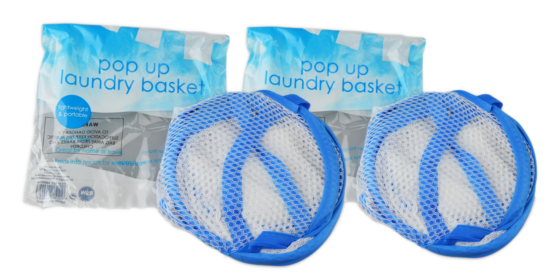 Folding-Mesh-Laundry-Basket-Ideal-for-Home-or-Travel-034-Royle-Home-034 thumbnail 9