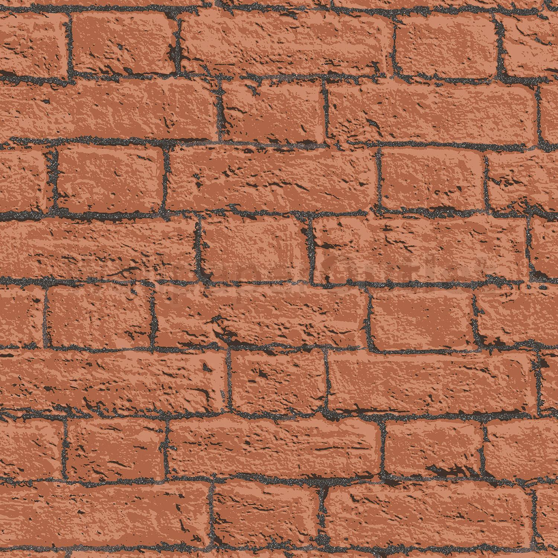 Details About Brick Effect Wallpaper Glitter Slate Stone Rustic Terracotta Black Coloroll